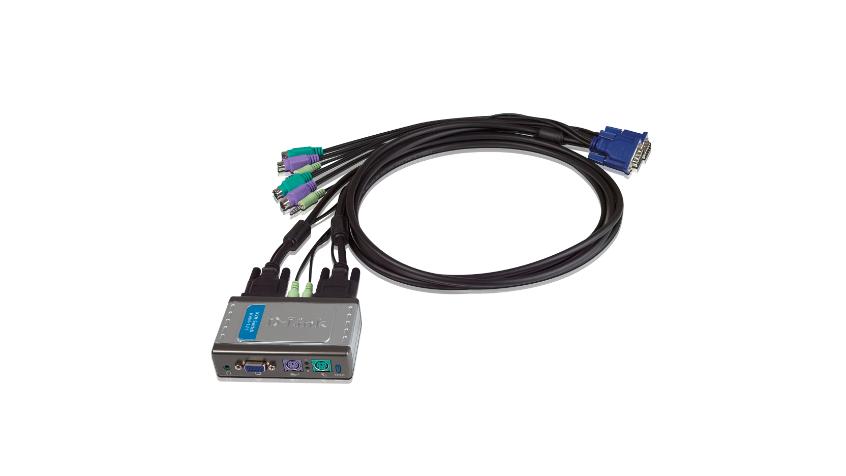 2-port kvm switch with audio support